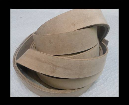 Vintage Style Flat Leather - 20mm-Vintage Cofee Brown