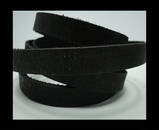 Vintage Style Flat Leather - 10mm-Black