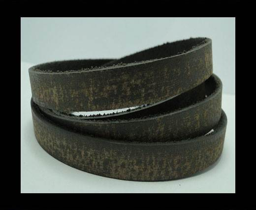 Vintage Style Flat Leather - 10mm-Taupe