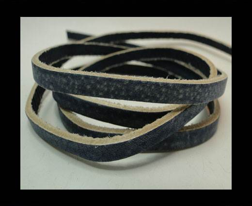 Buy Vintage Style Flat Leather - 5mm-Blue at wholesale prices