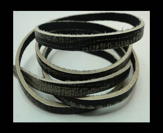 Buy Vintage Style Flat Leather - 5mm-Black Tiger at wholesale prices