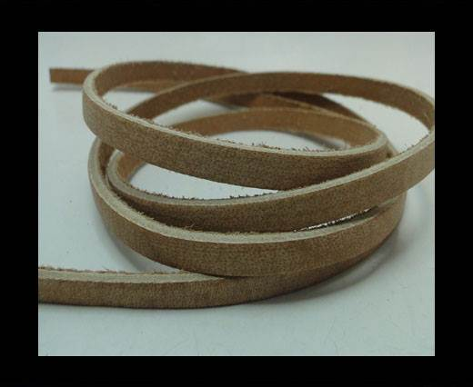 Buy Vintage Style Flat Leather - 5mm-Coffee Brown at wholesale prices