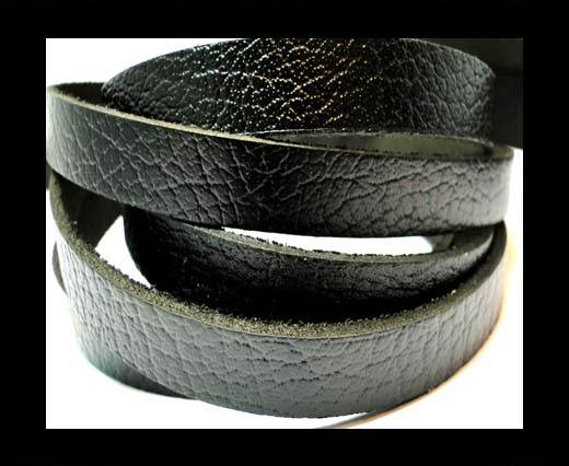 Vintage Style Flat Leather-10mm-spl 1 black