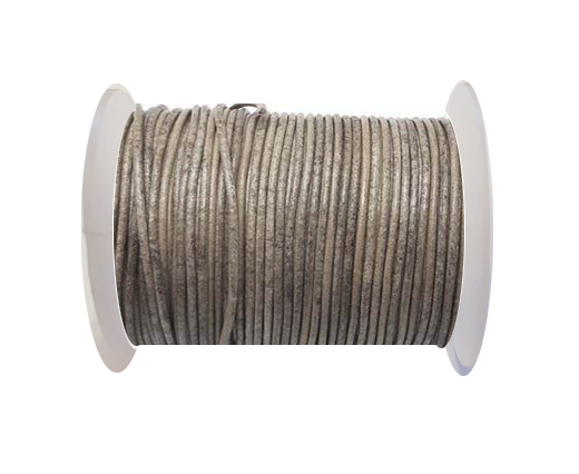 Round Leather Cord-1,5mm- Vintage Taupe(024)