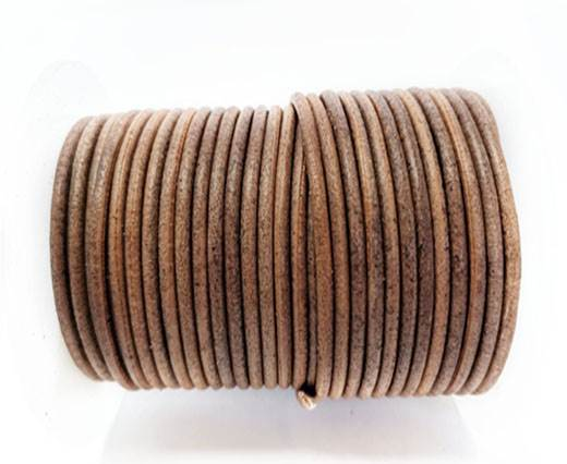 Round Leather cords  2,5mm - Vintage Taupe