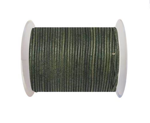 Round Leather Cord -Vintage-Tourmaline- 2mm