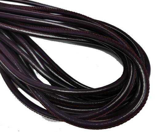 Round Stitched Nappa Leather Cord-4mm-violet2