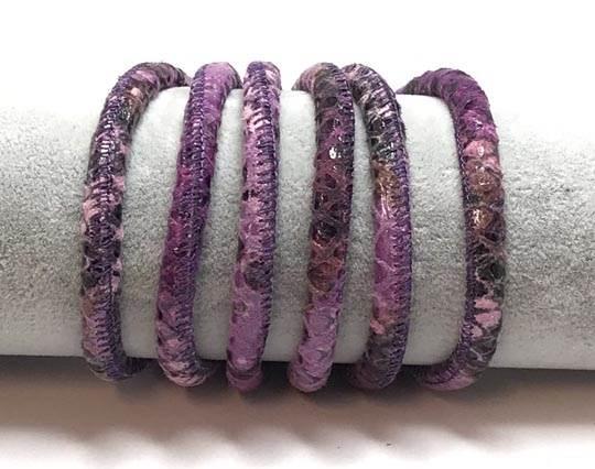 Fine Nappa-Python style-6mm-Violet