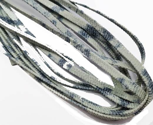 Flat Nappa Leather cords - 5mm - washed jeans