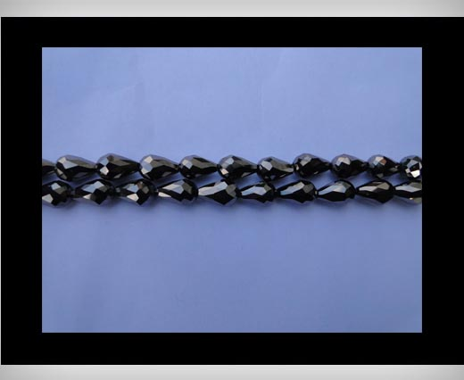 Buy Water Glass Beads -8mm*11mm-Metallic Black at wholesale prices