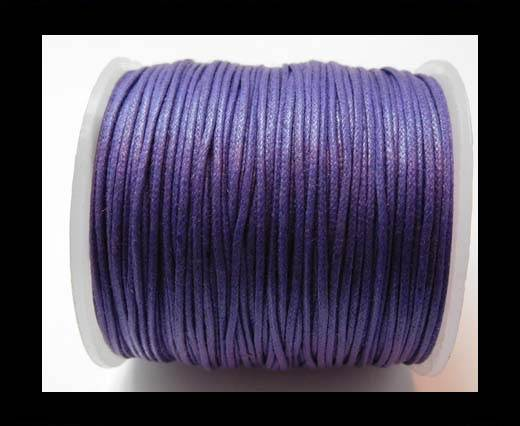 Wax Cotton Cords - 0,5mm - Dark Lavender