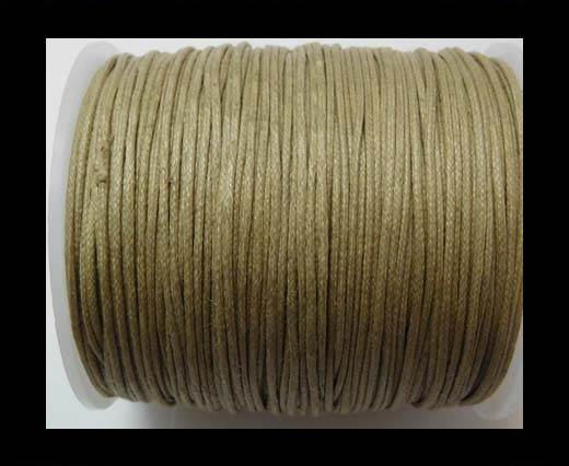 Wax Cotton Cords - 1mm - Dark Sand