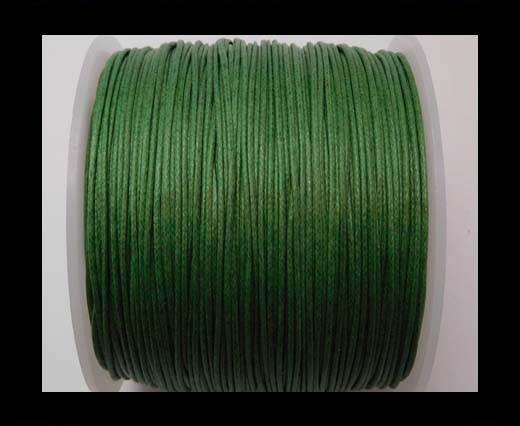 Wax Cotton Cords - 1mm - Islamic Green
