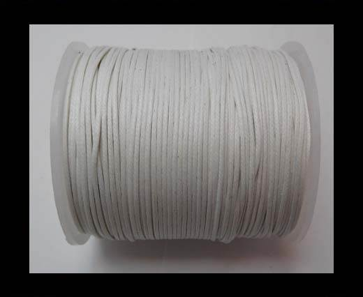 Wax Cotton Cords - 1mm - White