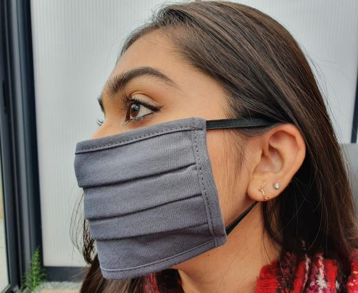 Grey-1 - Washable Cotton Mask