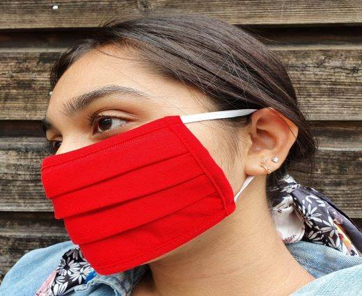 Red - Washable Cotton Mask