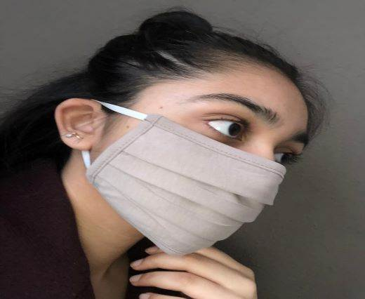 Light Beige - Washable Cotton Mask