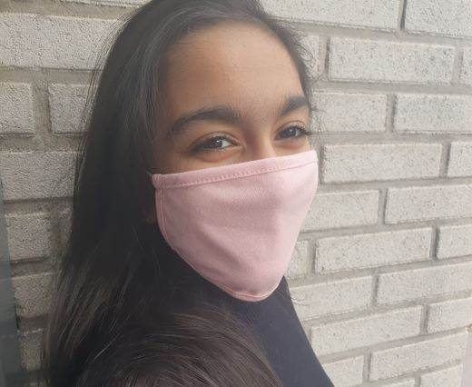 Mix washable cotton facemask - Light Pink