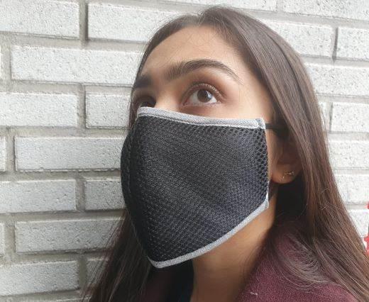 washable cotton facemask - Black