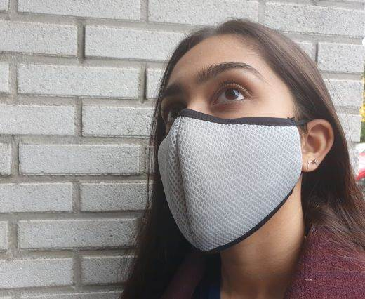 washable cotton facemask - White