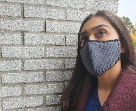 washable cotton facemask - Grey