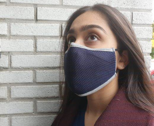 washable cotton facemask - Navy Blue