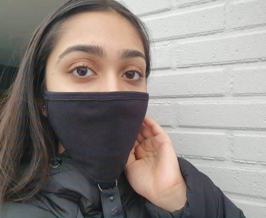 Mix washable cotton facemask - Black