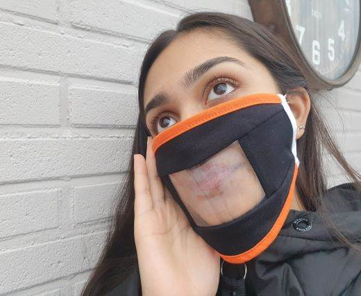 Hearing Imparied-Washable-Cotton-FaceMask-Black