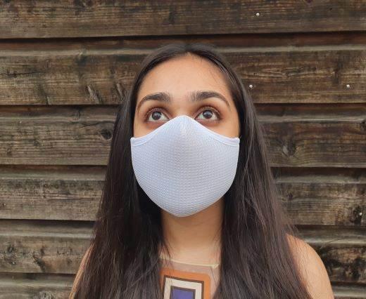 6 ply cotton washable masks - White