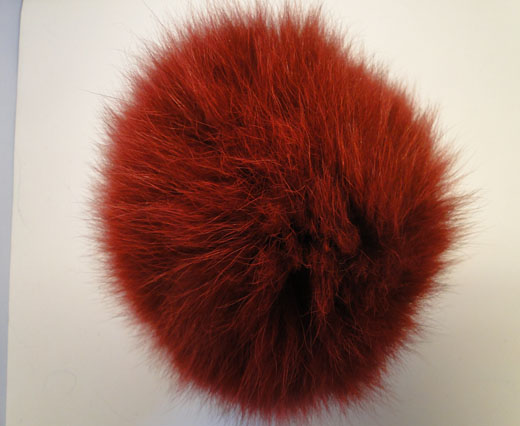 Fox Fur-Wine Red -14cms
