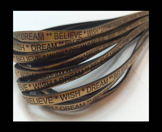 Wish Dream Believe - 5mm - Metallic Bronze