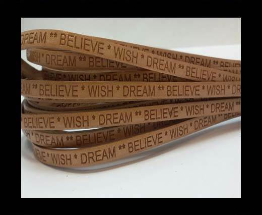 Wish Dream Believe - 5mm - BONE