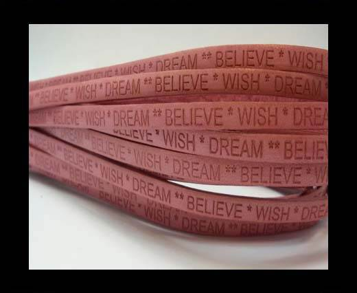 Wish Dream Believe - 5mm - PINK