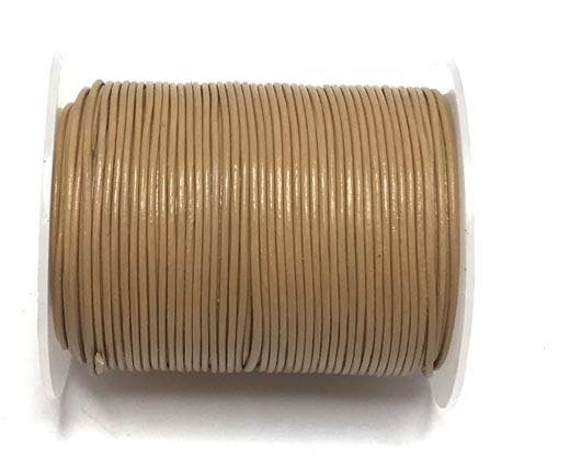 Round Leather Cord -0.5mm-  Wood brown