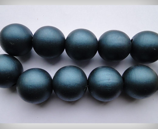 Wooden Beads-25mm-Metalic Dark Blue