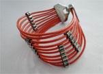 Handmade Leather bracelet Zamac-Finish-BH1