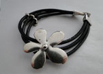 Handmade Leather bracelet Zamac-Finish-BH10