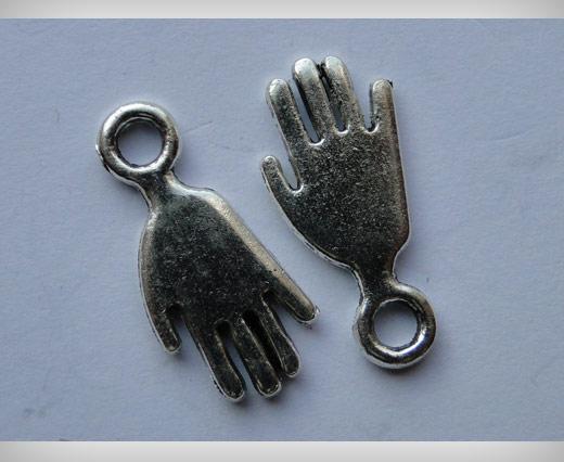 Zamak Silver Plated Bead CA-3018