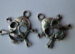 Zamak Silver Plated Beads CA-3040