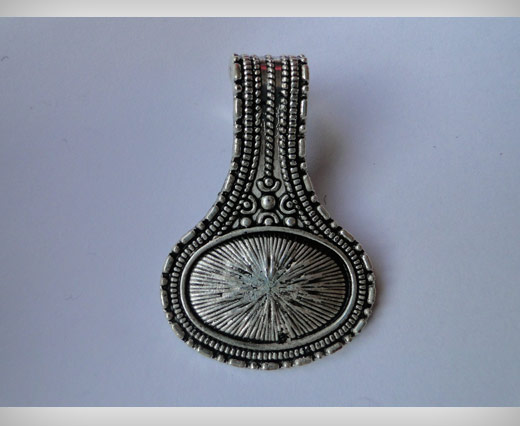 Zamak Silver Plated Bead CA-3041