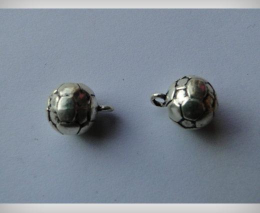 Zamak Silver Plated Bead CA 3043