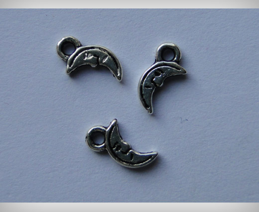 Zamak Silver Plated Bead CA 3046