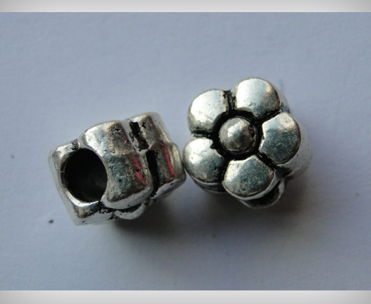 Zamac Silver Plated Beads CA3056