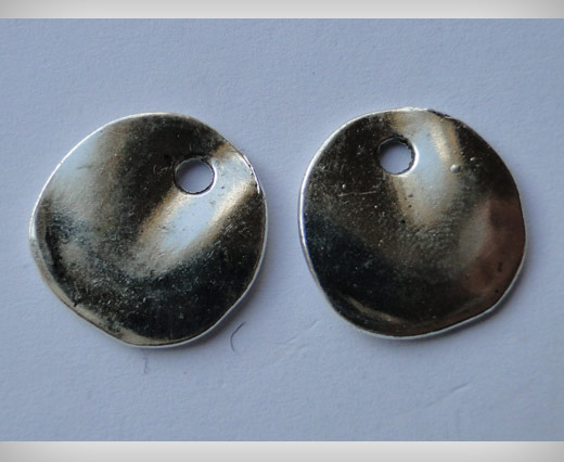 Zamak Silver Plated Bead CA-3058