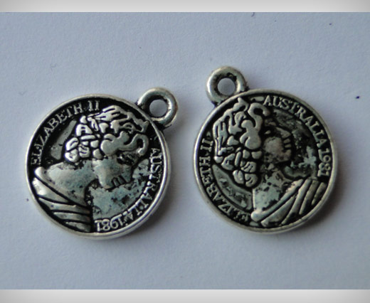Zamak Silver Plated Bead CA-3061