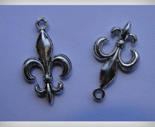Zamak Silver Plated Bead CA 3066