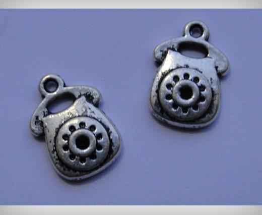 Zamak Silver Plated Bead CA 3068