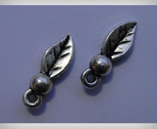 Zamak Silver Plated Bead CA 3081