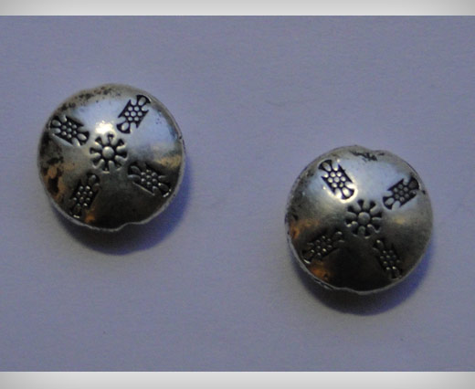 Zamak Silver Plated Bead CA 3087