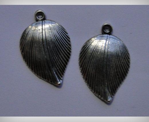 Zamak Silver Plated Bead CA-3088